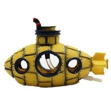 Beautiful Aquarium Ornament spaceship Sunk Ship Fish Tank Aquarium Decoration