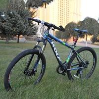 27.5 inch non-vouwfiets aluminium frame mountainbike fietsen 24 speed schijfremmen unisex MTB fietsen 2 kleuren paar fiets