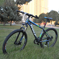 27 5 Inch Non Folding Bike Aluminium Frame Mountain Bike Bicycles 24 Speed Disc Brakes Unisex