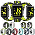 Sports Silicon Wrist Band Strap Bracelet For Apple Watch 38mm/42mm Large S