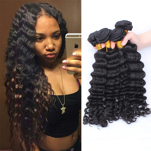 7a Bohemian Curly Hair 3pcs Bohemian Virgin Hair Weave Deep Wave
