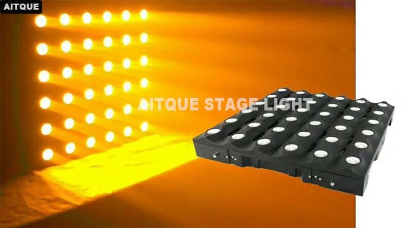 DJ Stage Led Light Lyre Matrix 36X3W Gold Yellow Led Panel Dmx Led Matrix For Spotlights Blinder Light Show