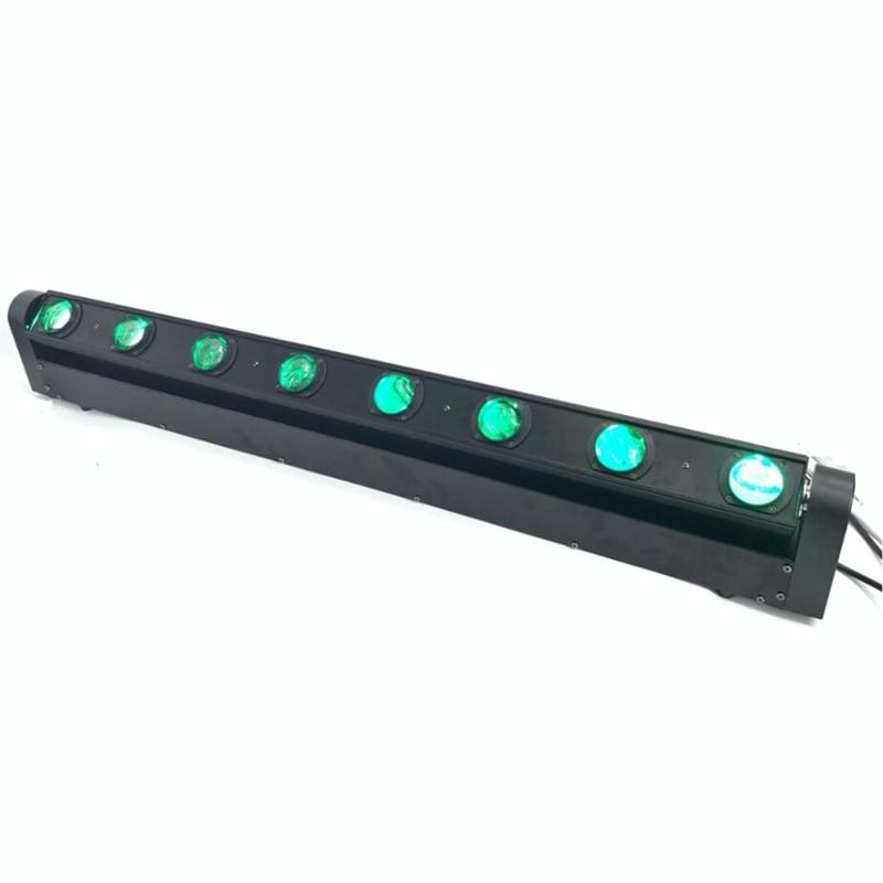 RGBW 8x12W LED Bar Beam Moving Head Light DMX512 Moving Head Beam Light For DJ Disco Party Nightclub Event DJ Show Fast Shipping