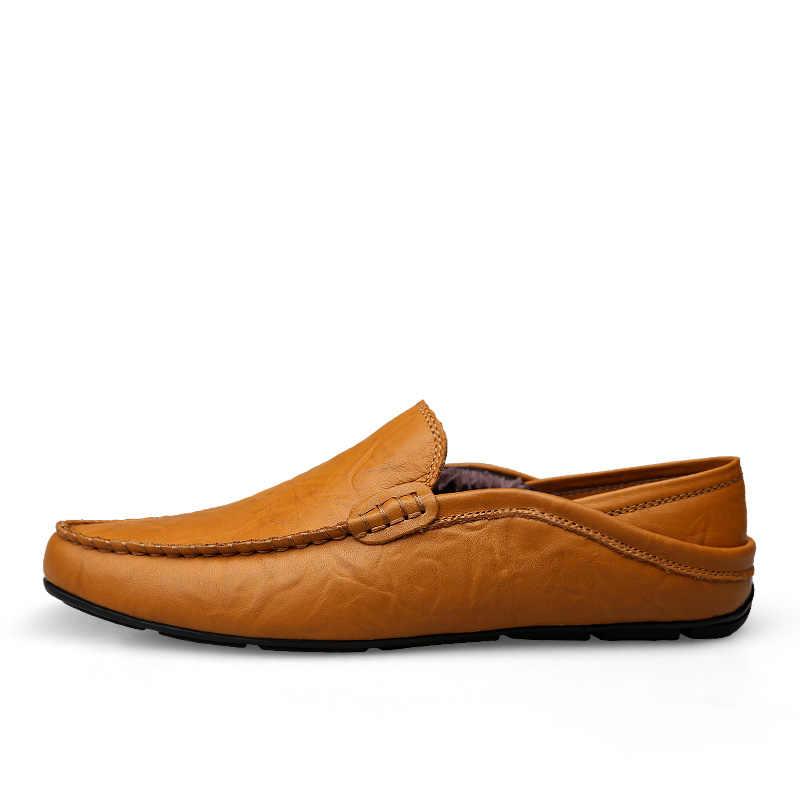 18242f03bd82c ... DUDELI italiano zapatos para Hombre Zapatos casuales de la marca de lujo  de Invierno Caliente hombres ...