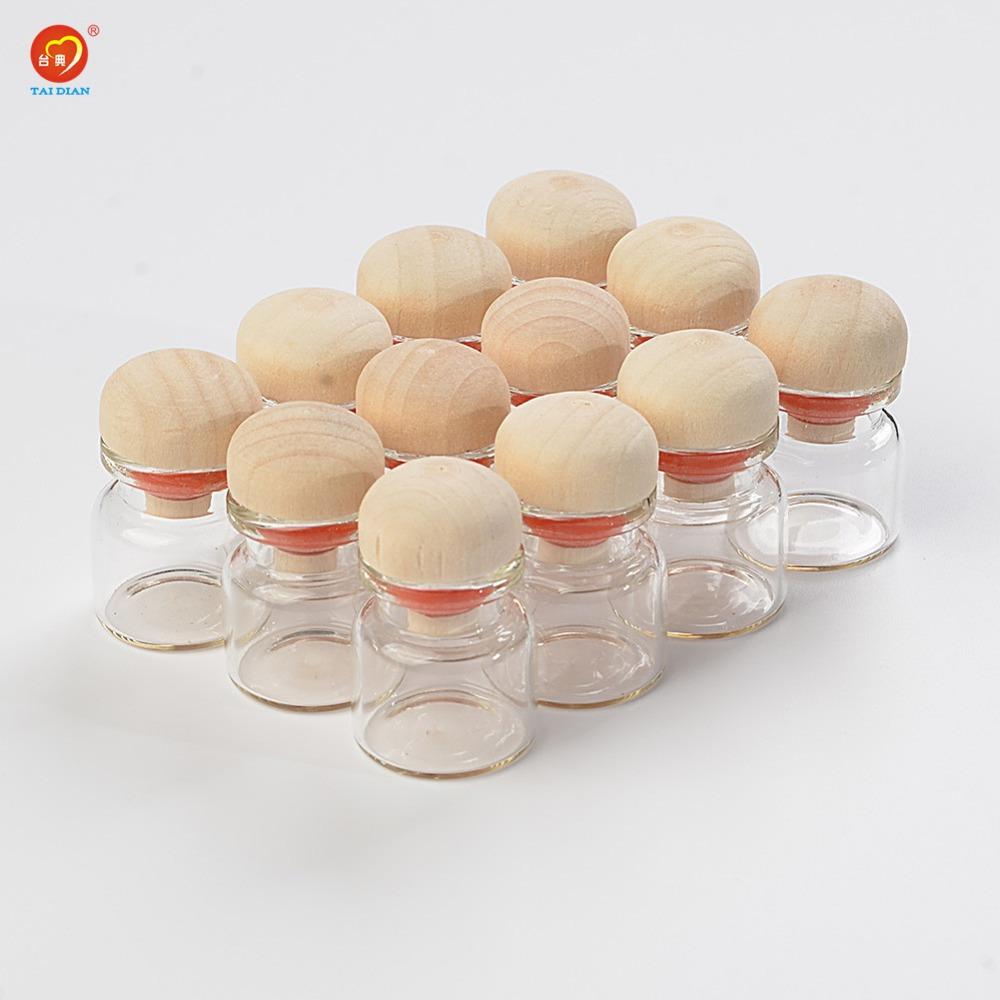 4ml Mini Glass Bottles With Cork Wood Stopper Decoration Crafts Bottles Jars Vials Gift for Wedding