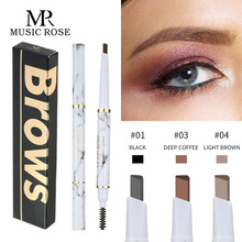 Music Rose 3 Colors 3D Eyebrow Pencil Women Fashion Makeup Microblading Brown Pen Automatic Rotation Eye Tool Cosmetics