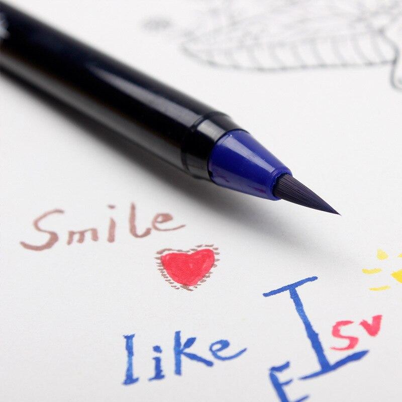 torneira da cor caneta criativa caligrafia 03