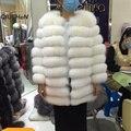 QC8063 QCFUR 2016 nuevo abrigo de pieles de las mujeres bienes fox fur coat chaqueta de invierno gruesa piel de alta calidad