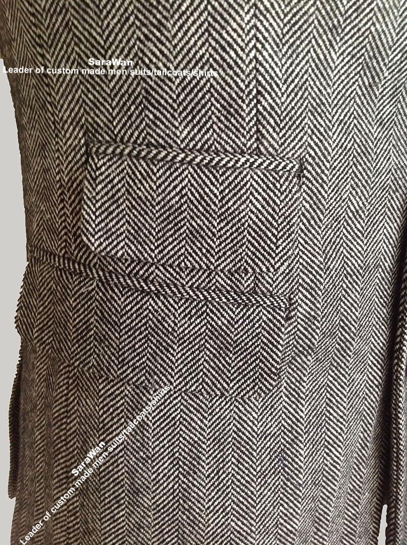 Veste homme tweed chevrons
