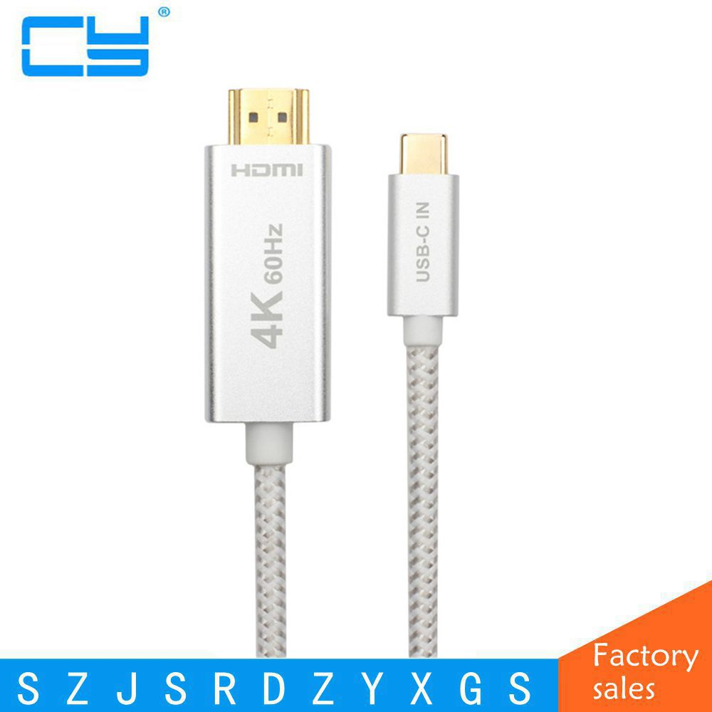 USB-C Metal Shell New Braided Support 4K 60Hz 1M 2M 3M USB 3.1 Type C Type-c male To HDMI male HD adapter connecting Cable vakind usb cable 0 2m usb 3 1 usb c type c type c male to micro usb2 0 5pin male connector adapter data charging cable wire cord