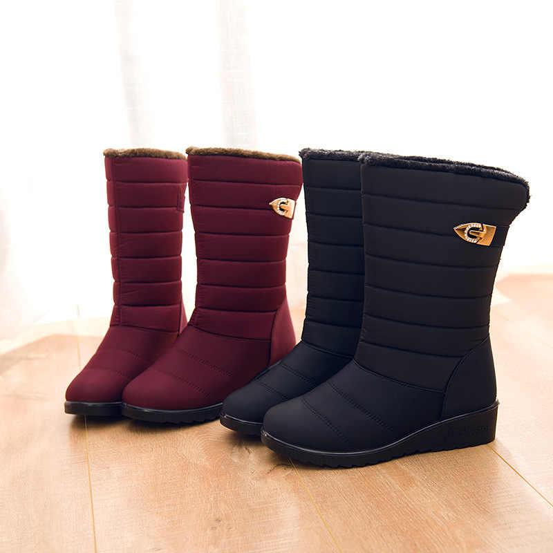Kadın botları kış ayakkabı kadın orta buzağı kar botları peluş botas mujer su geçirmez sıcak kış kadın ayakkabı kadın patik WSH3141