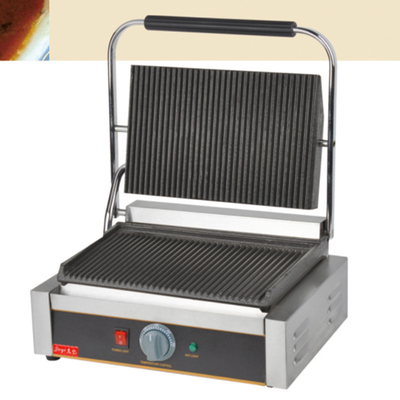 220V/2200W Non stick Commercial Single Plate Steak Sandwich Toaster Machine Electric Griddle Grill Electric Contact Grill