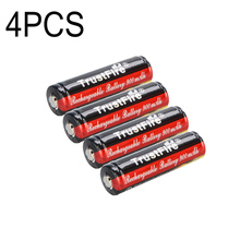 100% new 4pcs TrustFire 14500 li-ion Golden Protected Battery 3.7V 900mAh Lithium Rechargeable Batteries Free AA flashlight цена