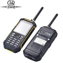 Русская клавиатура IP68 Водонепроницаемый противоударный мобильный телефон переносная fm-рация сотовые телефоны 2500 Max две sim карты фонарик телефон X6
