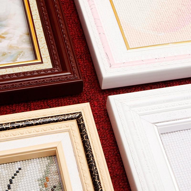 DPF moldura de Madeira DIY diamante bordado Costura Acessórios de quadros para pintura imagem home decor
