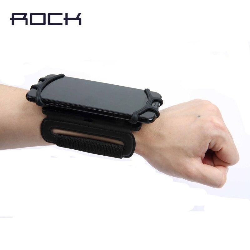 imágenes para Rock Universal Wrist Band Caso para el iphone 7 6 s Plus Corriendo deporte Sostenedor de La Cubierta para Samsung borde S7 s8 s8 más Ciclismo parachoques