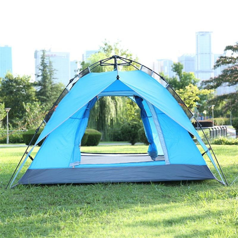 Camping Tent 4 Person Tents Outdoor Camping Double Door Open Tent Camping Mountain Tents desert fox tent outdoor camping tents couple double double wild rain suit beach camping equipment