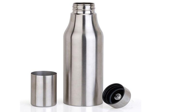 1000mL Stainless Steel Dust proof Edible Oil Pot Sauce Vinegar Oil Bottle Shop