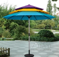 3.3 meter 8 ribs rainbow patio umbrella garden parasol outdoor furniture covers sunshade for Christmas decor