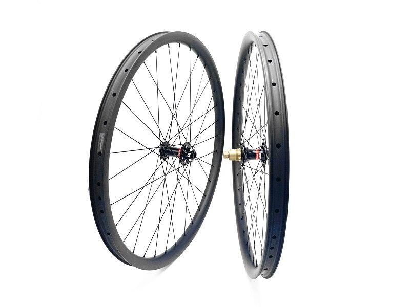 1550g ruote MTB del carbonio 29er ruote MTB MTB della bici ruote 30mm larghezza 100x9 100x15 142x12 profondità 25mm della bicicletta MTB ruote 1423 piatto