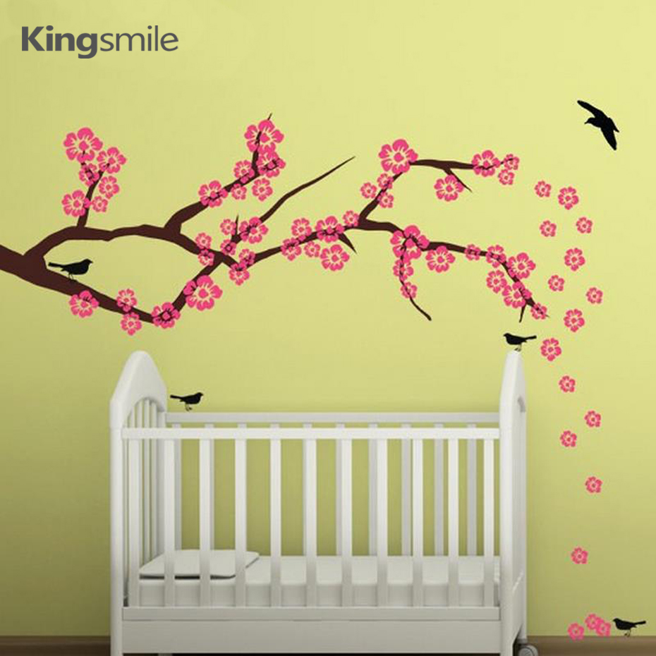 popular cherry blossom wall art decals buy cheap cherry blossom cherry blossom branch wall sticker removable flower vinyl wall art decal for nursery living room home