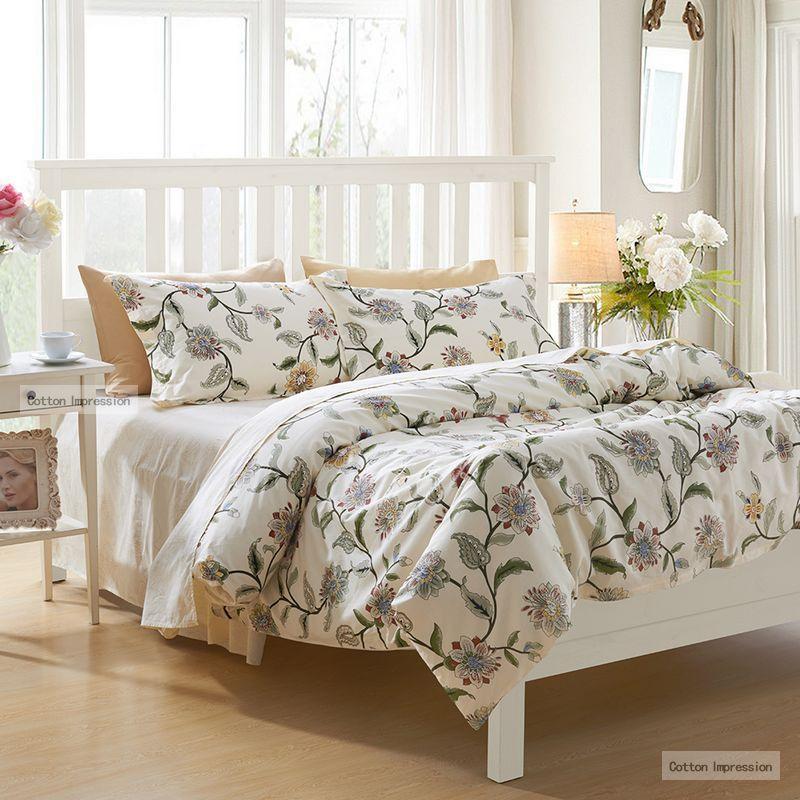 reactive printing flower bedding set king queen twin size spring fashion bed sheet hot sale. Black Bedroom Furniture Sets. Home Design Ideas