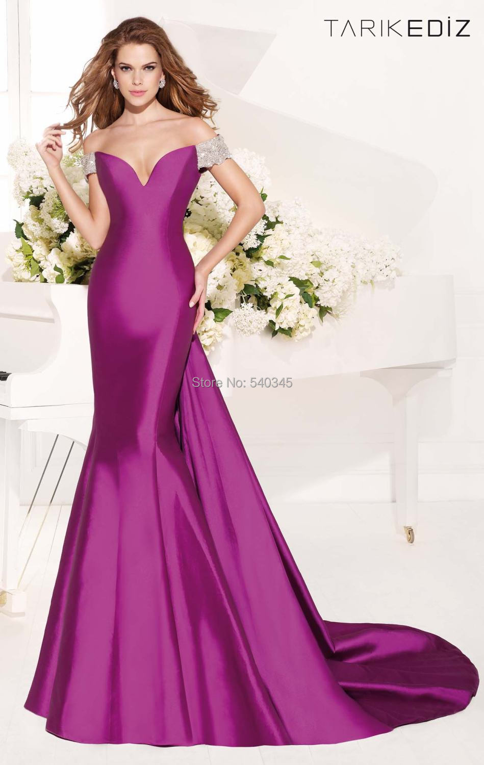 2014 Court Train   Evening     Dresses   Mermaid Off the Shoulder V-Neck Crystal Sequined Beading Sexy Long Prom Party Gowns 2014 E11