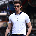 Summer Men's Short-sleeved POLO Shirt Business Casual Solid Color Large Size Cotton Plaid Lapel Thin Youth POLO Shirts M~3XL