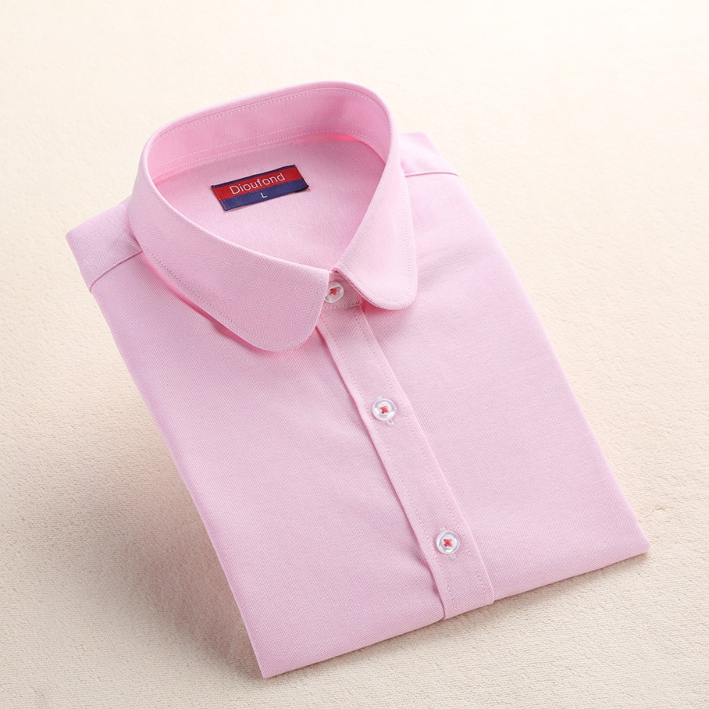 Dioufond Formale Bluse Frauen Weißes Hemd Baumwolle Büro Tops - Damenbekleidung - Foto 5