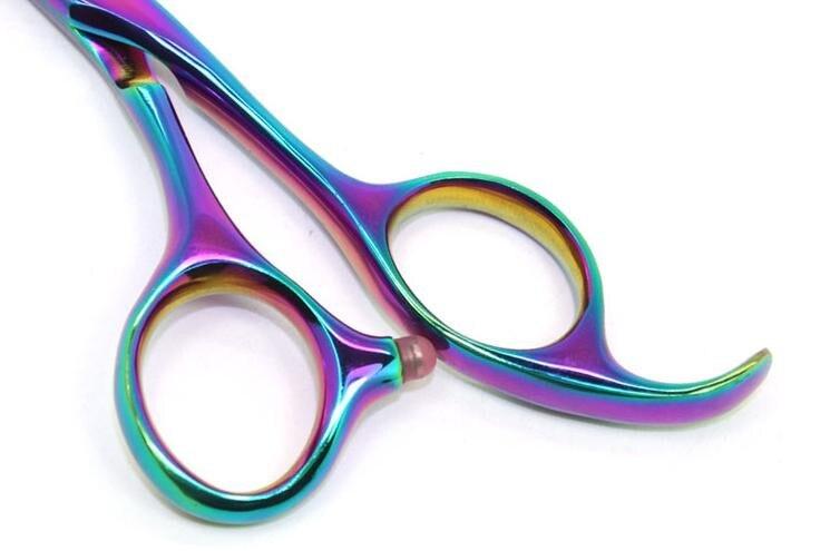 Nouveau 5,5 pouces et 6 pouces couleur arc en ciel 440C coupe et - Soin des cheveux et coiffage - Photo 4