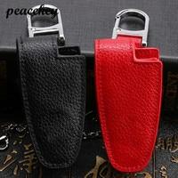 Peacekey Genuine Leather Car Key Cover Shell For Mercedes B C E S GLK300 R350L C180