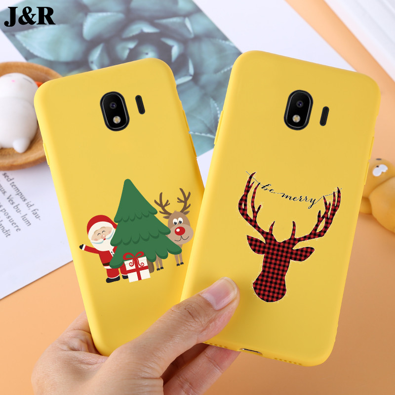 J4 2018 Case For Samsung Galaxy J4 2018 Cover Silicon Cover Soft TPU Cute Case For Samsung Galaxy J4 PLUS 2018 Back Cover Yellow