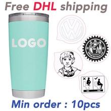Оптовый заказ с бесплатной доставкой DHL и бесплатный Пользовательский логотип 10 ~ 100 шт tumblers лазерная гравировка 3d УФ печать логотипа компании