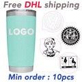 Ordine all'ingrosso con trasporto libero del DHL libero e marchio su ordinazione libero 10 ~ 100 pcs bicchieri inciso al laser 3d UV di stampa logo aziendale