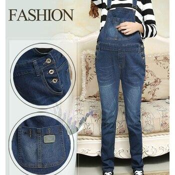 6d92fee07 Denim Jeans maternidad pantalones de pantalón para las mujeres embarazadas  ropa Plus Tamaño del vientre Legging