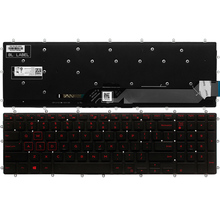 New US laptop keyboard for Dell Inspiron 7567 7566 7577 7587 7570 7580 keyboard layout blue/red/white Backlit