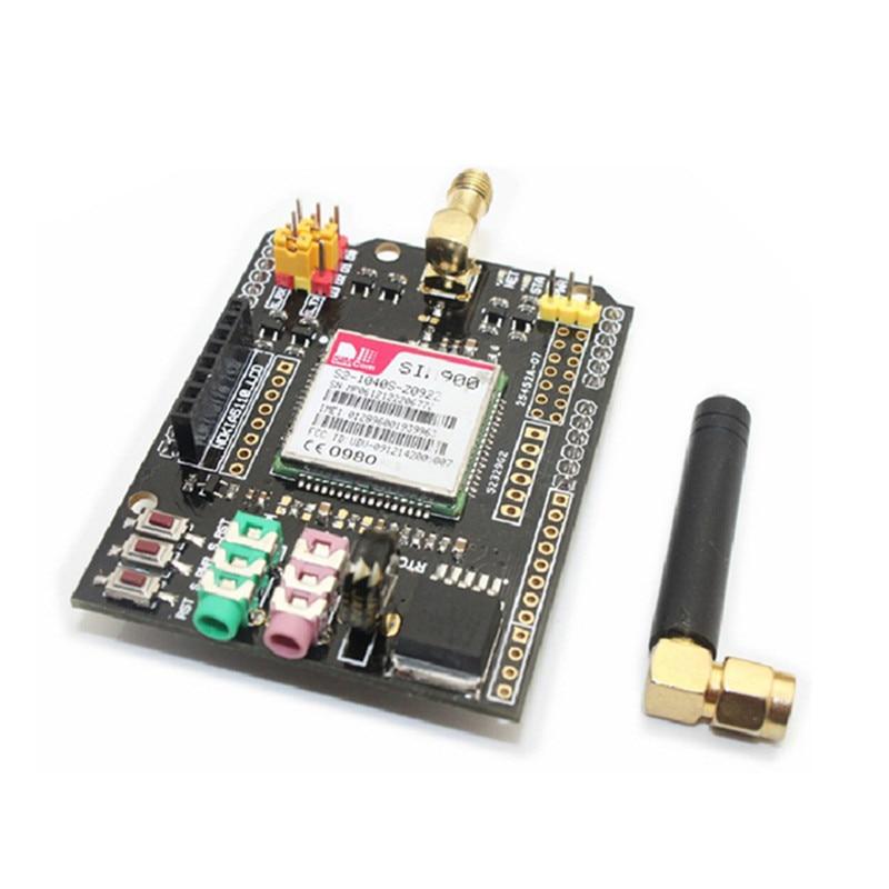 2 pcs/lot SIM900 Module GSM/GPRS carte d'extension de bouclier Module sans fil pour Arduino avec antenne