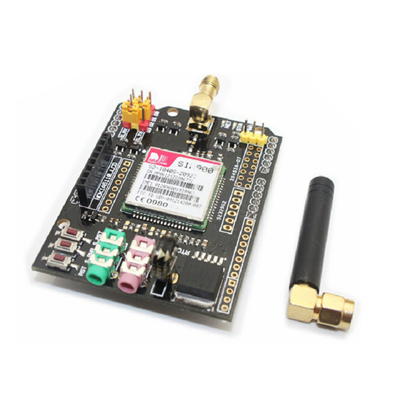 2pcs/lot SIM900 Module GSM/GPRS Shield Expansion Board Wireless Module For Arduino with Antenna