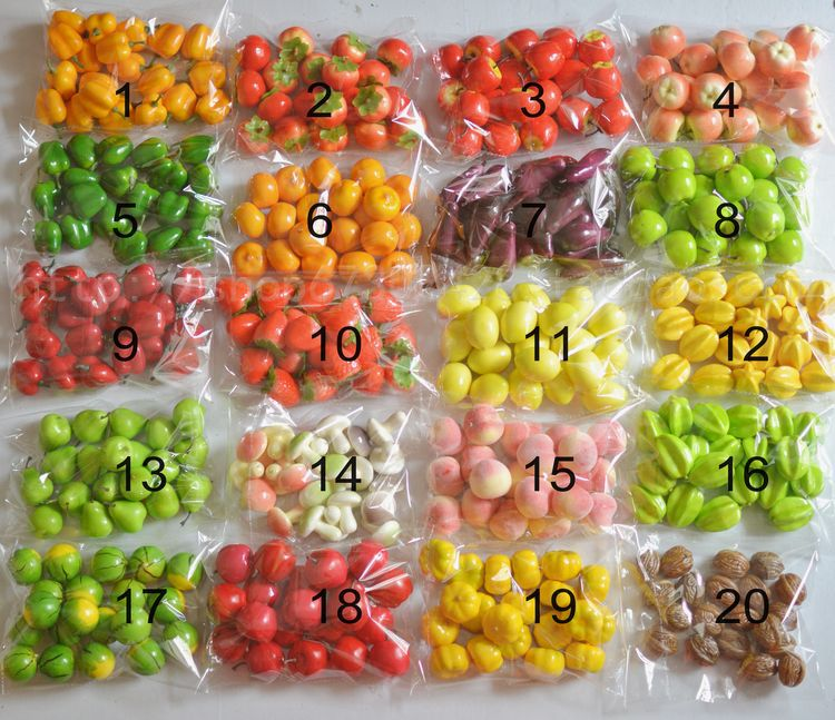 (20pcs/pack)Mini Plastic Pumpkins Simulation Fruit Artificial Vegetable Fake Apple Home