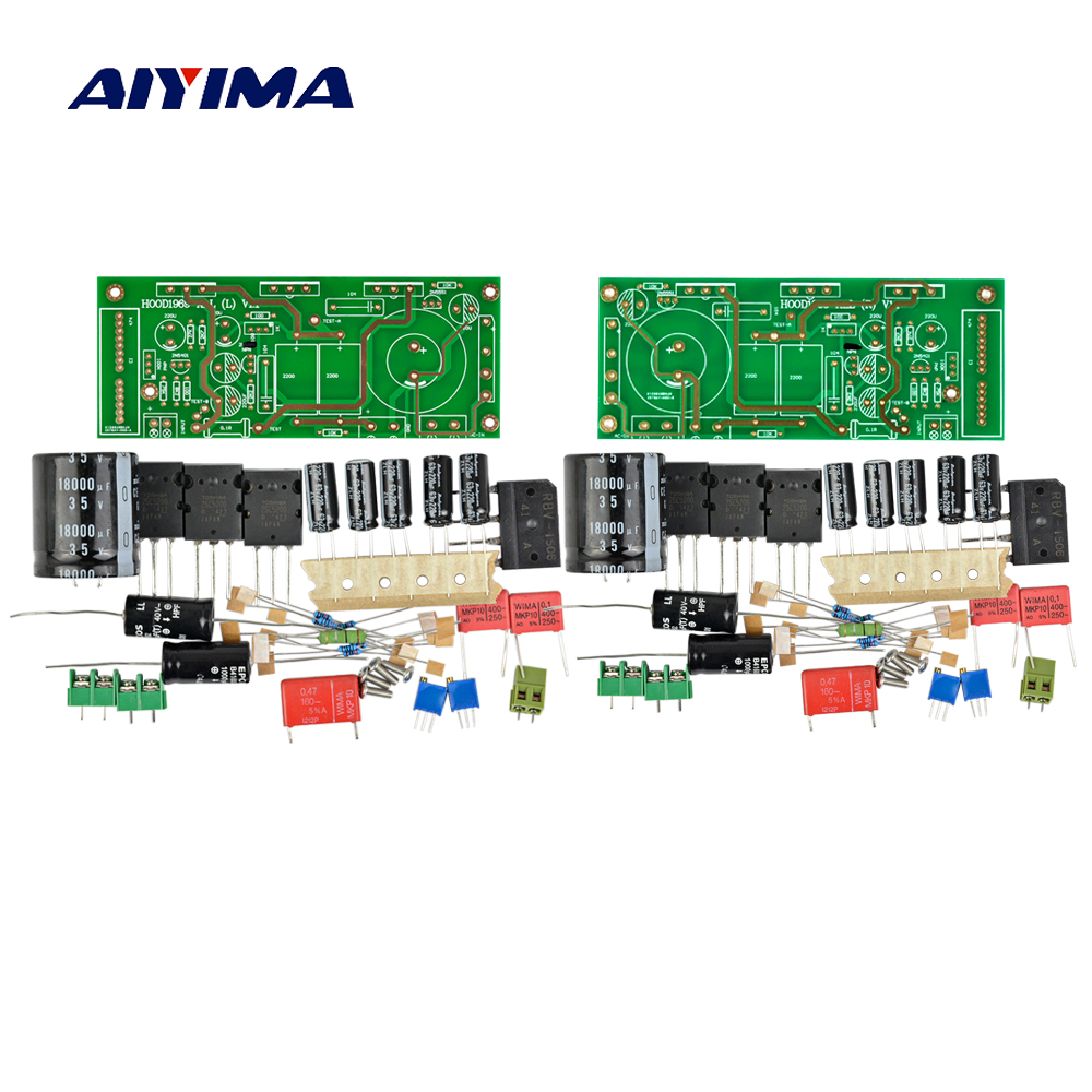 AIYIMA 2Sets Amplifiers Audio Board Hood 1969 Class A Power Amplifier 25W Amplificador With Electronic Filtering Power Supply