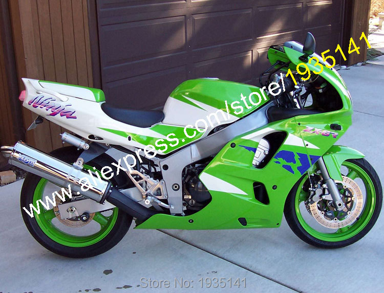 Hot Sales,For Kawasaki NINJA ZX6R 94 95 96 97 ZX-6R ZX 6R 1994 1995 1996 1997 Green White Blue Aftermarket Motorcycle Fairing