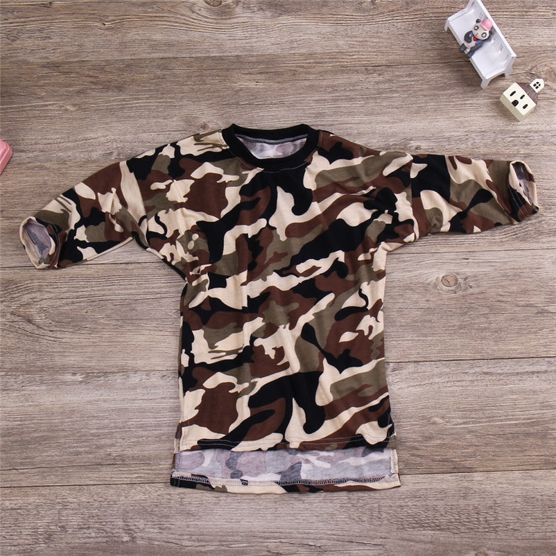 mini camouflag baby girls dress fashionable long sleeve cool girl dress for toddler girls causal conjunto menina 4OT1 (3)