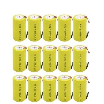 GTF 15PCS bateria subc 3400mAh 1.2V ni-cd akumulatory Sub C z zakładką do elektronarzędzi