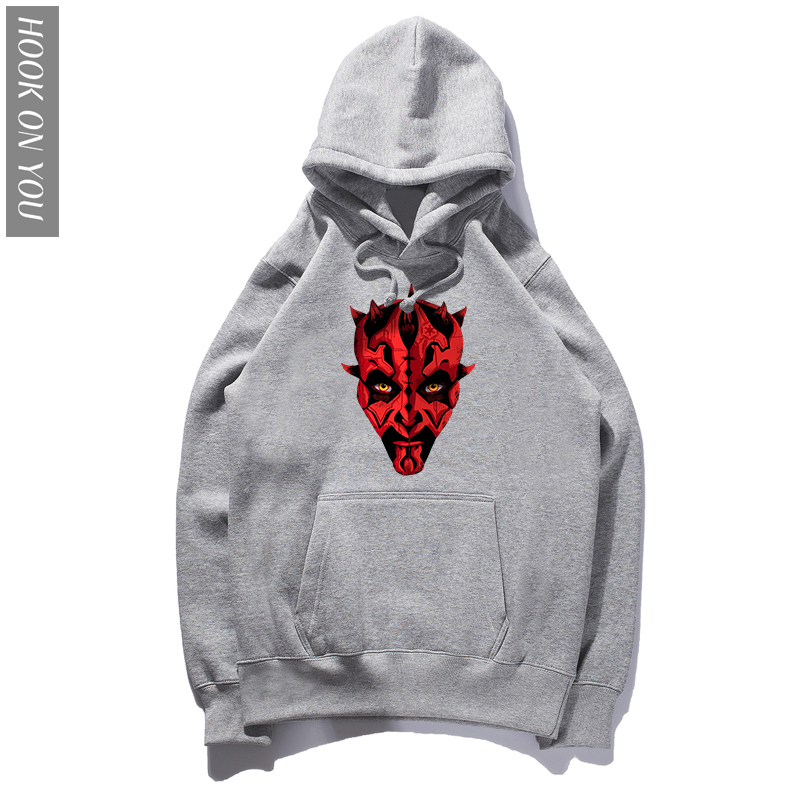 Classic Men Funny Hoodie Star wars Darth Maul Emerges Hoody Men Top Soft Nature Cotton Boy Clothing Oversize Hoodies Sweatshirts