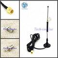 4G LTE Antena 698-960/1700-2700 Mhz 10dbi SMA Macho RG174 3 M Transparente Lechón + adaptador SMA Hembra a Macho CRC9