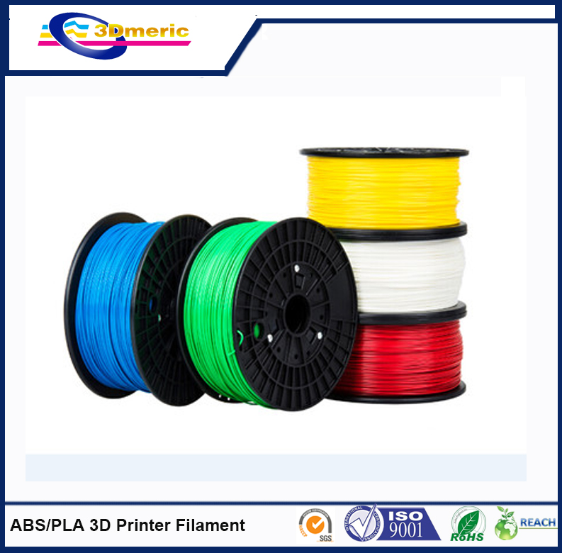 High-quality 3D Printer Filament, PLA/ABS Material, 1.75 and 3.00mm Diameter, 0.05mm Roundness big size 220 220 240mm high quality precision 3d printer diy kit with pla filament 8gb sd card and lcd for free