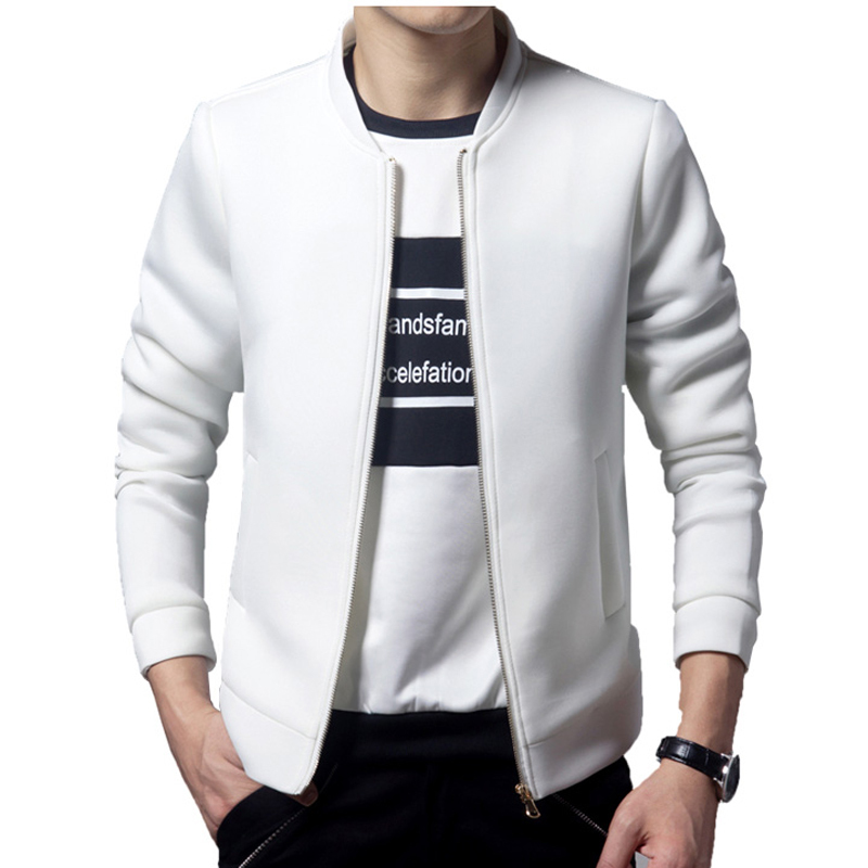 Brand White Jacket Men 2016 Fashion Design Mens Slim Zipper ...