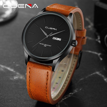 CUENA Fashion Quartz Watches Men Luxury Brand Waterproof Leather Strap Men's Wrist Watch Relogio Masculino Male Clocks Man 2018
