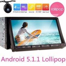 7″ Double 2 Din Android5.1 Lollipop Universal Car Radio DVD GPS Navigator Head Unit Car PC with 2 din gps navigator+free camera
