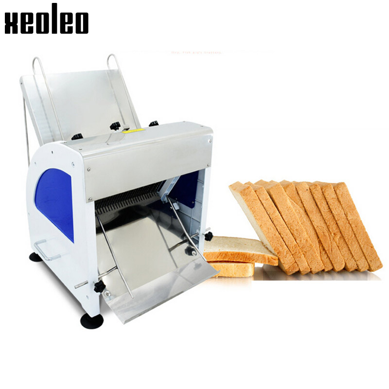 XOELEO Eectric Bread Slicer Commerica Bread Sandwich Slicer Bread Cutter Machine For Toaster Slicer 12mm Thickness 31pieces/time